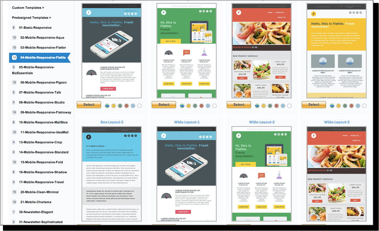 Html Email Advertising Templates Email Marketing Service for Business Communications 1