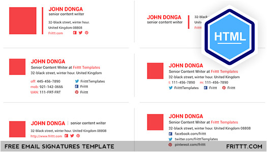 free download email signatures html template
