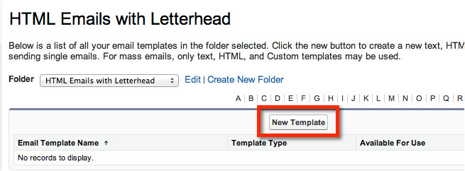 create a html email with merge fields