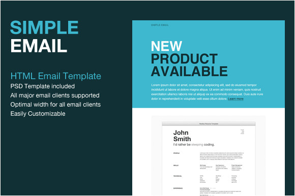 Html formatted Email Templates 9 Sample HTML Emails Psd
