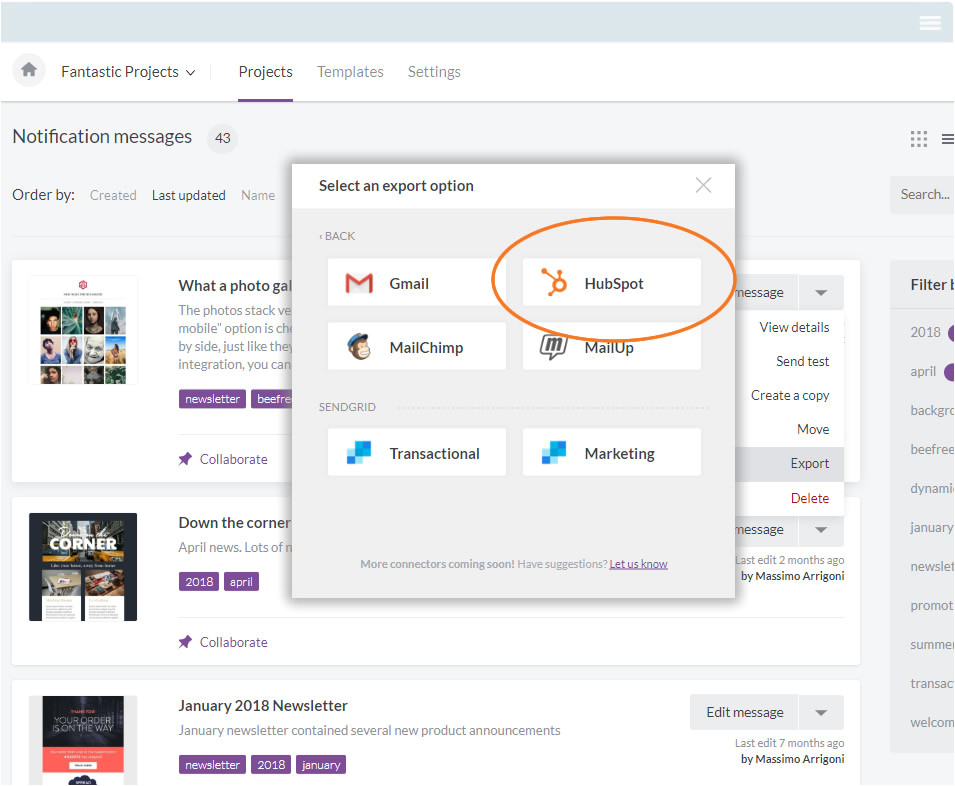 email editor for hubspot