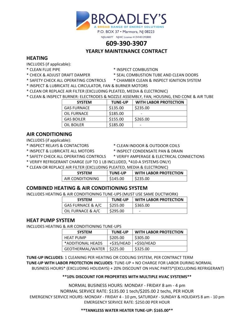hvac contract for services