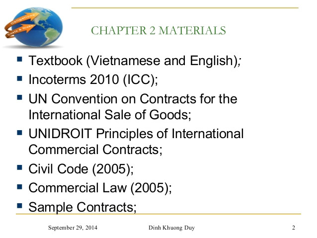 chapter 2 and 3 contracts and incoterms