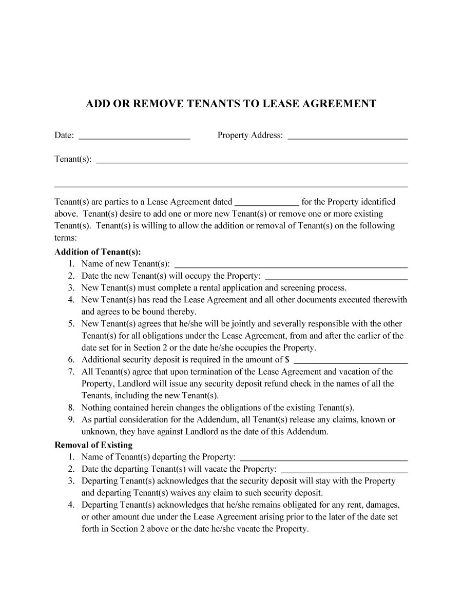 roommate agreement