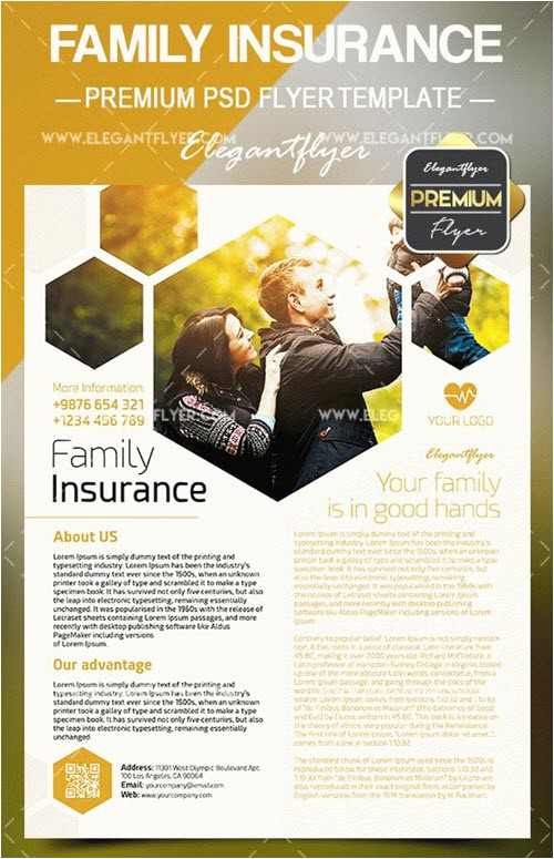 15 free premium flyer psd templates for insurance agency promotion