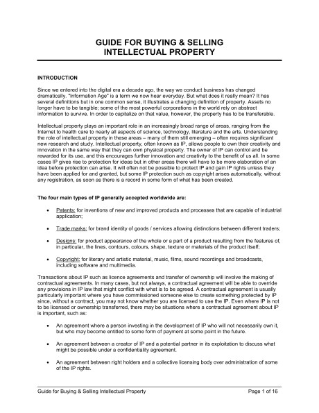 guide for buying selling intellectual property d961