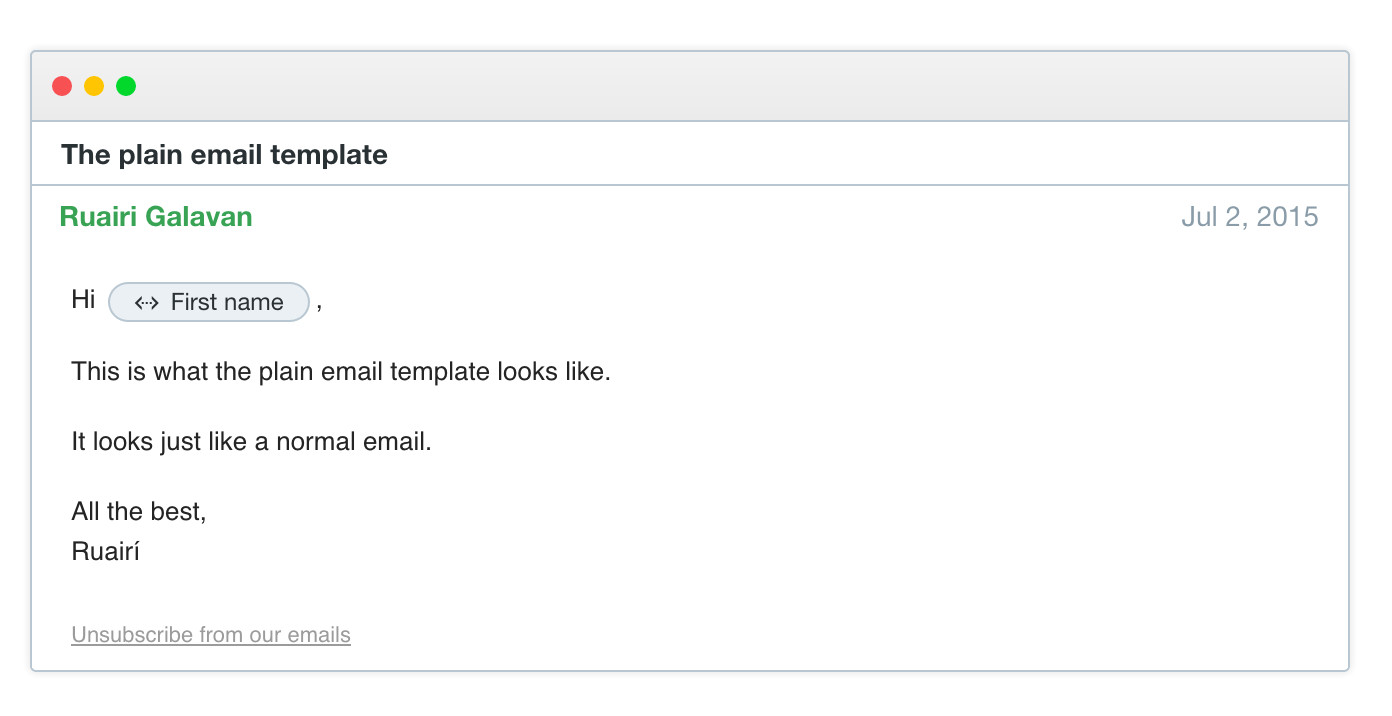 sending emails in intercom