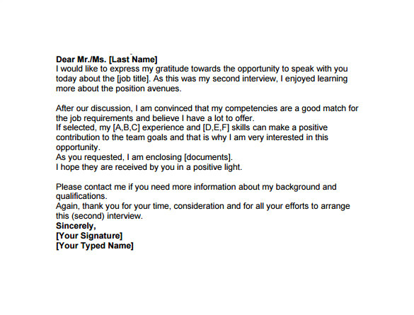 thank you email after interviews