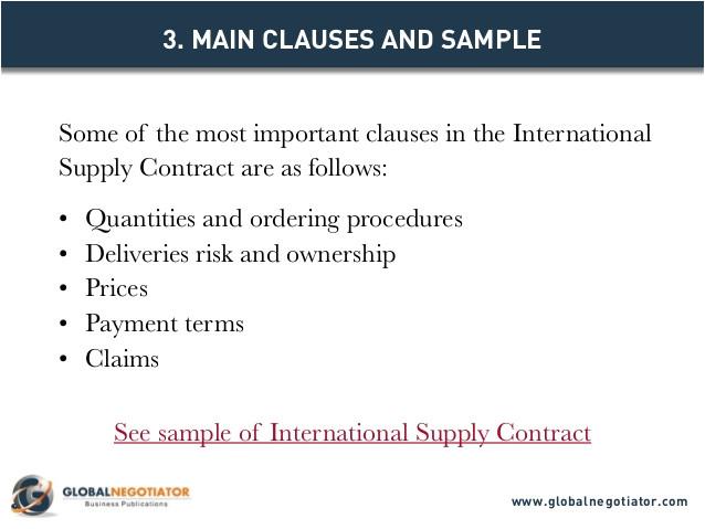 international supply contract