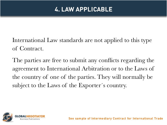 intermediary contract for international trade