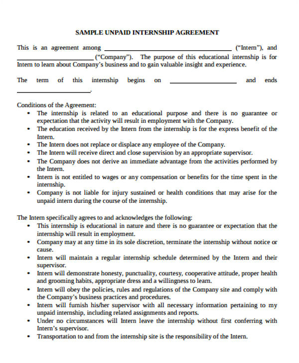 agreements template