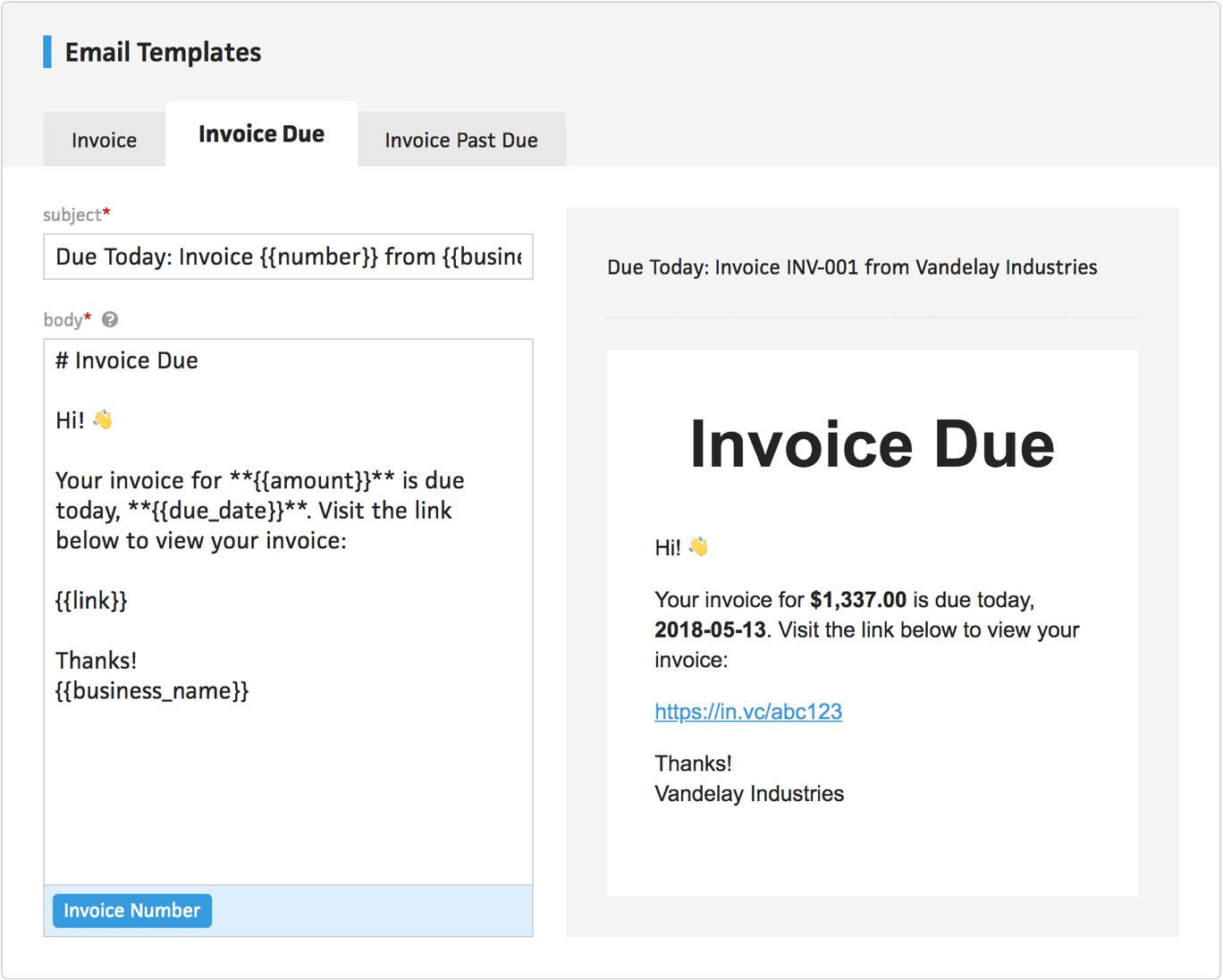 client invoice reminders