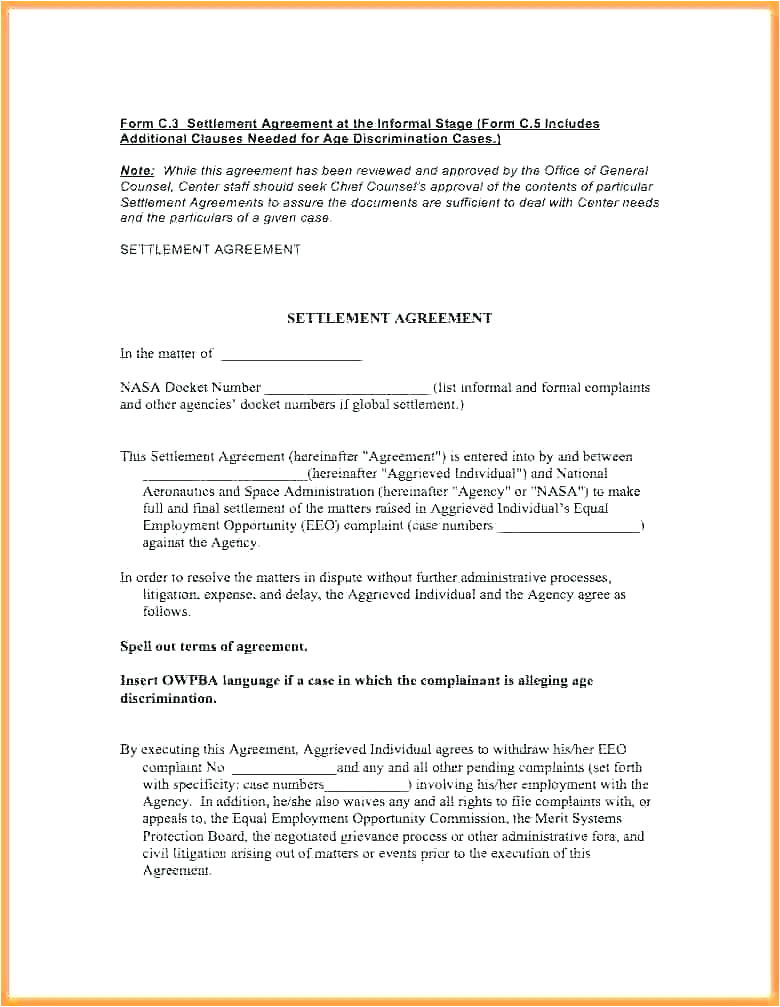 Ip Contract Template Property Settlement Agreement Template