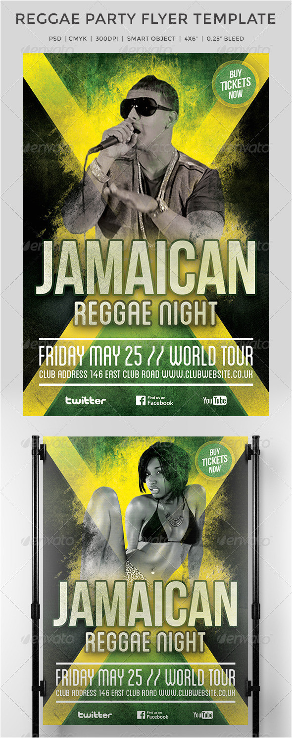 free printable jamaican party flyers