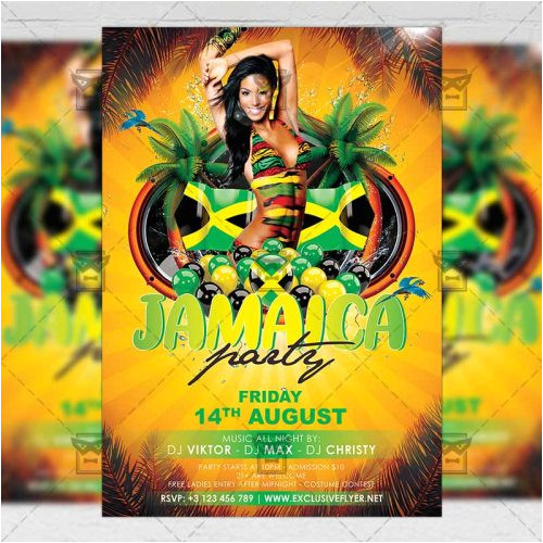 jamaica party club a5 flyer template