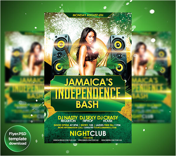 jamaicas independence day flyer template