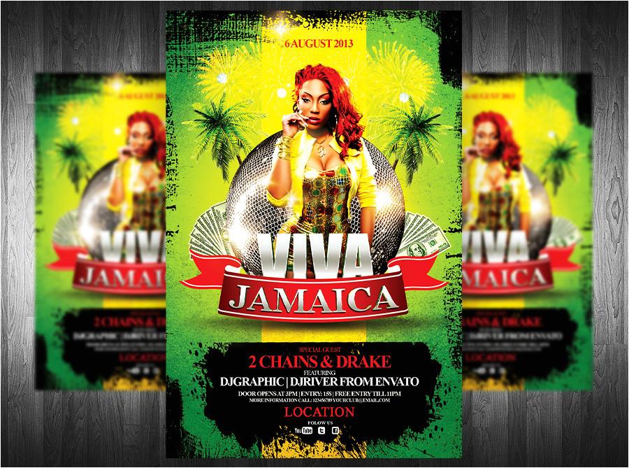 viva jamaica flyer template 387344141