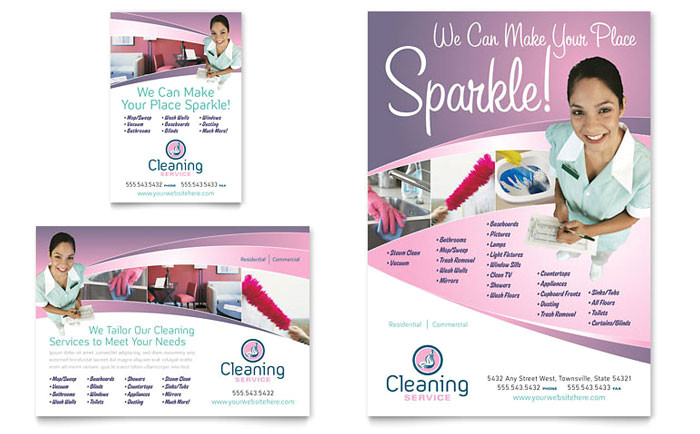house cleaning maid services flyer ad template design gb0520701