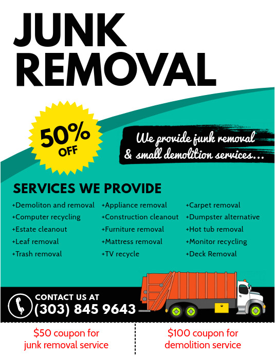 Junk Removal Flyer Template Copy Of Junk Removal Flyer Postermywall