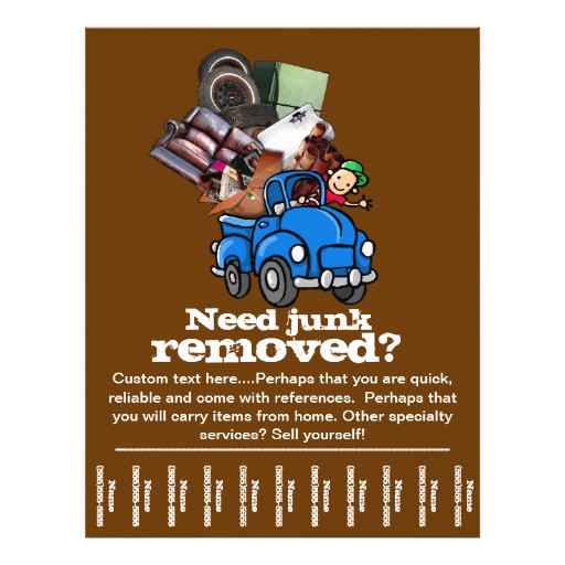 junk removal business custom tear sheet flyer 244694810575012418