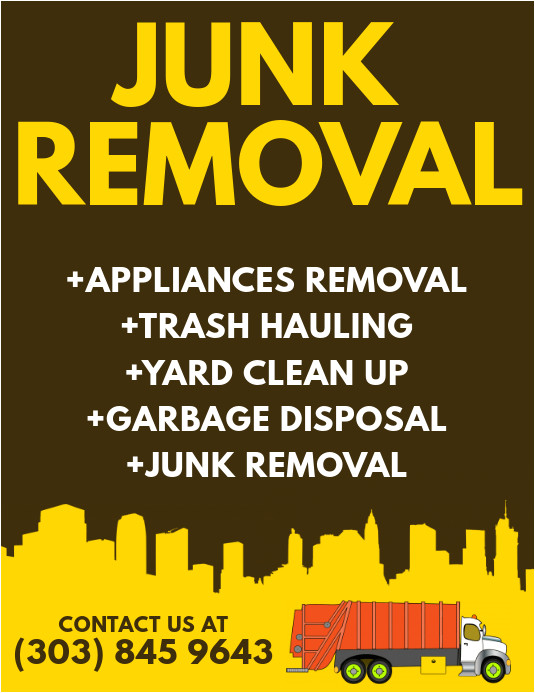junk removal poster template