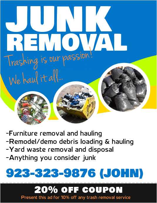 junk removal service poster template