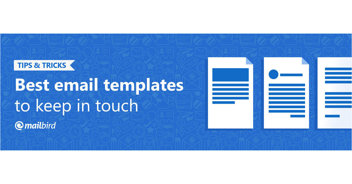 keep in touch email templates