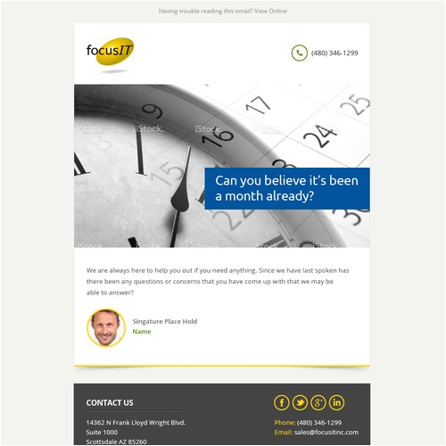 create keep touch email template focusit 500730