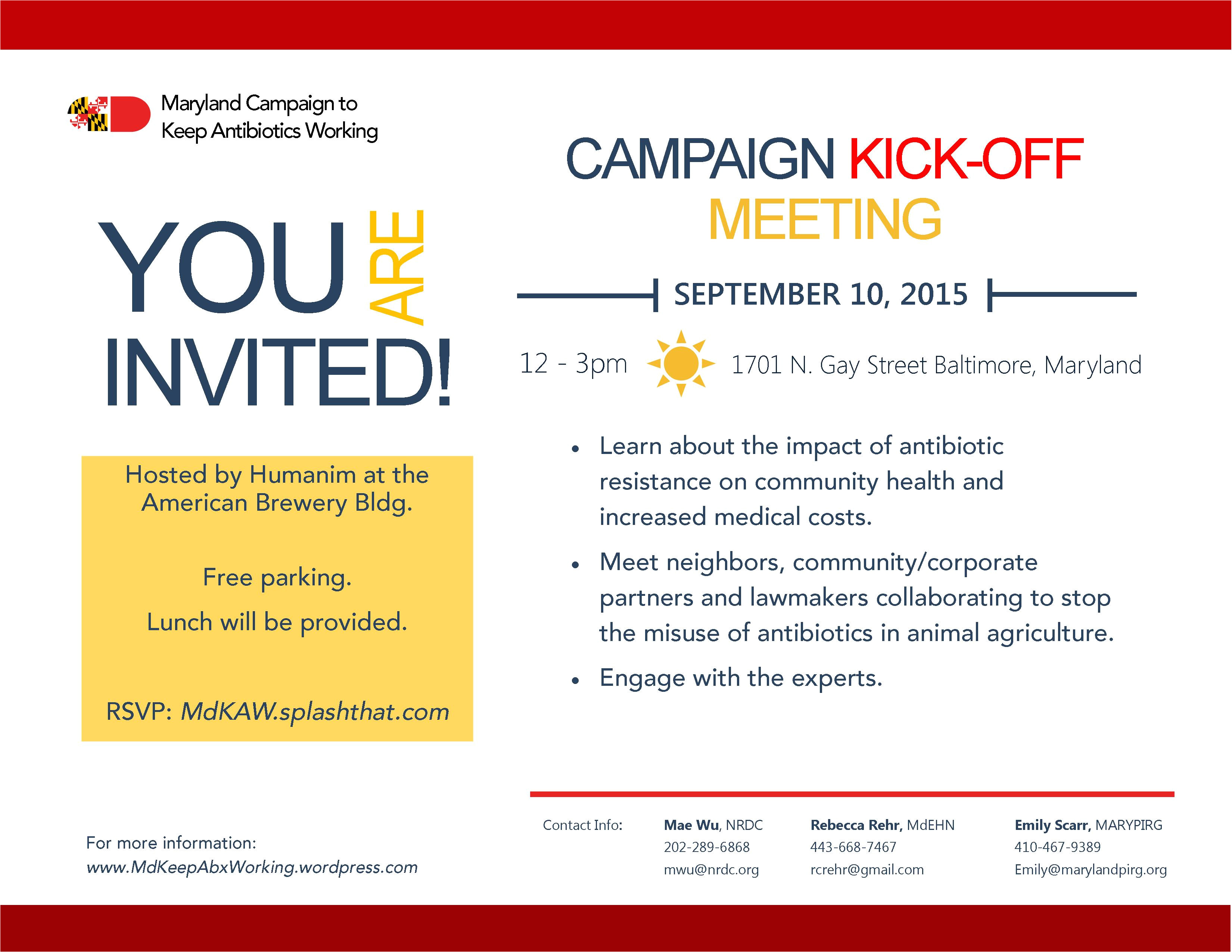 campaign kick off meeting details
