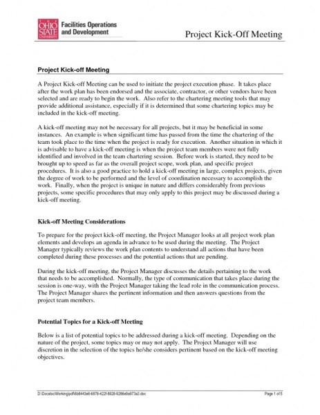 project kickoff meeting invitation
