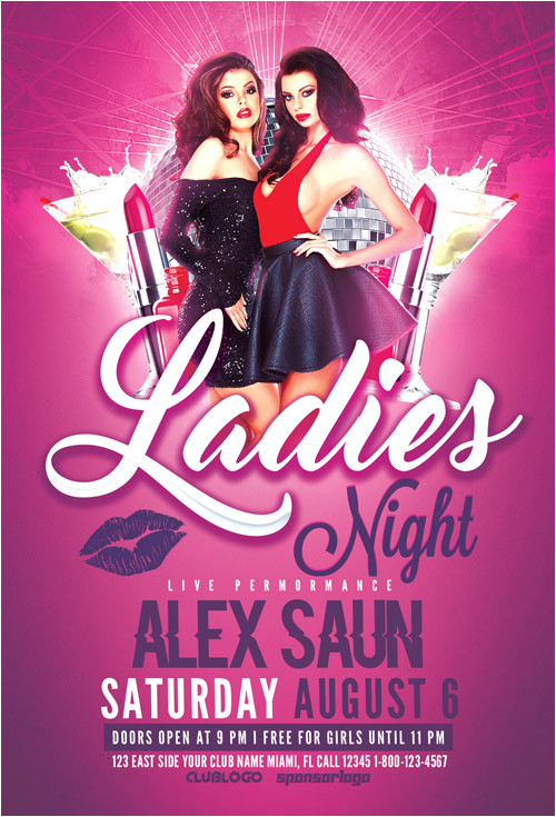 ladies night flyer template vol 2