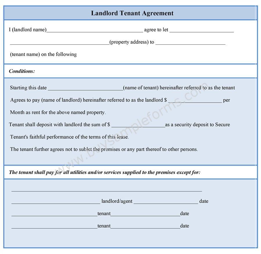 landlord tenant agreement form