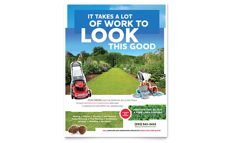 landscaping flyer templates hm0101501d