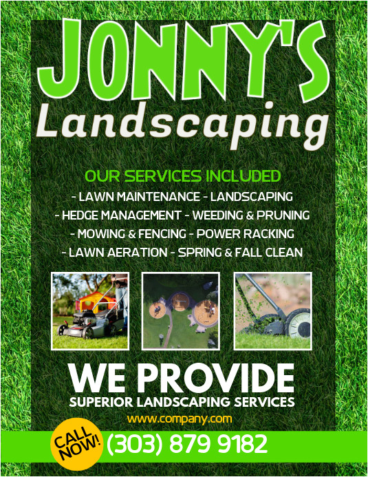 lawn service flyer design template