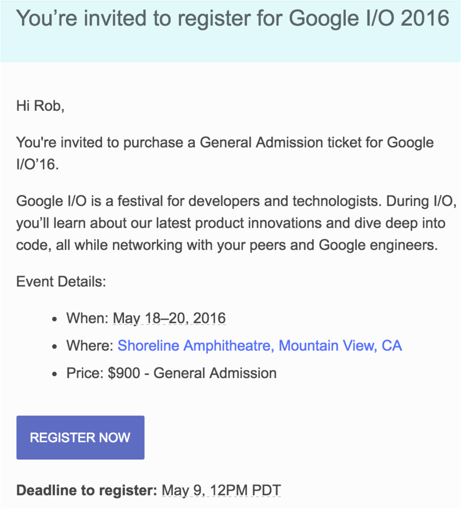 google io 2016 tickets