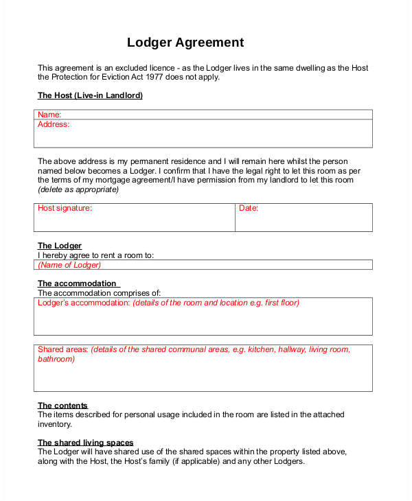 Lodger Contract Template 43 Eviction Notice Templates Pdf Doc Apple Pages
