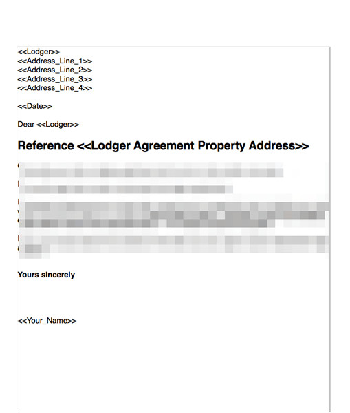 terminate a lodger agreement where there is a breach