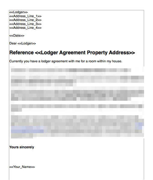 terminate a lodger agreement no fault nor breach