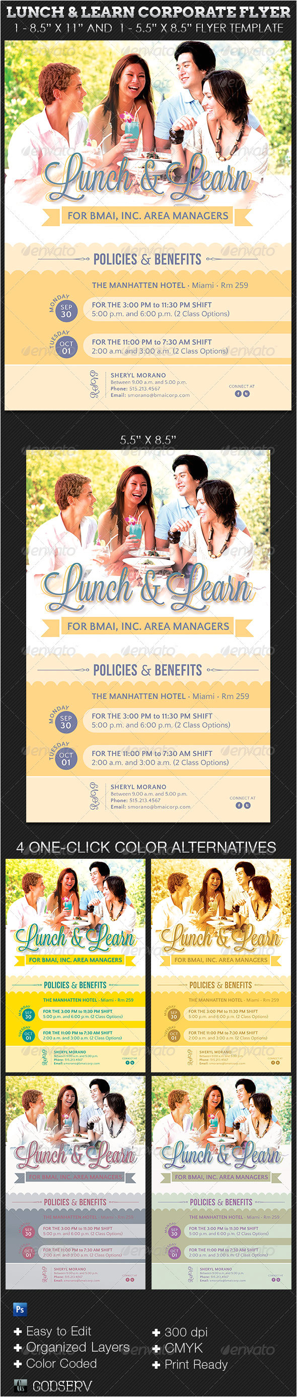 Lunch and Learn Flyer Template Lunch and Learn Corporate Flyer Template On Behance