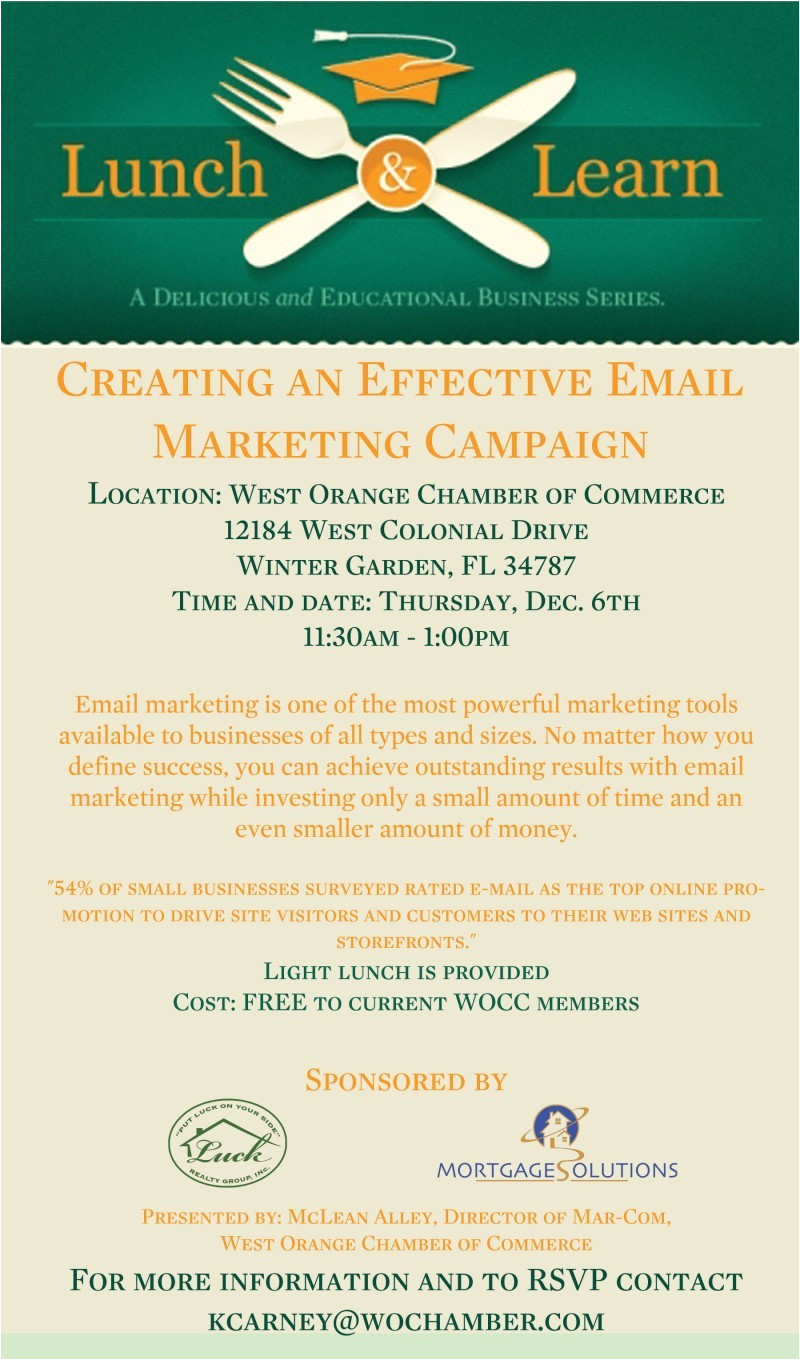 lunch and learn creating an effective email marketing campaign