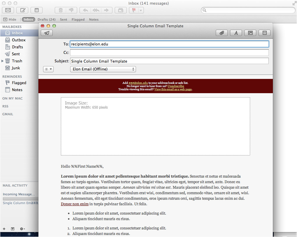 apple mail template 2030