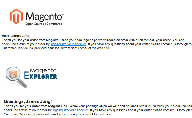 how to create and change custom email templates in magento