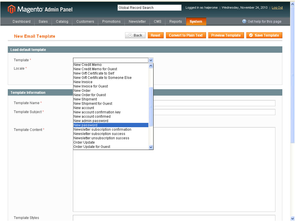 Magento Email Templates Location Managing E Mail Templates Using Magento Pits Blog