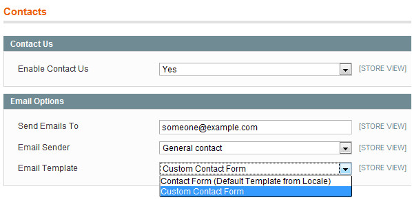 magento add a custom field to the contact us form