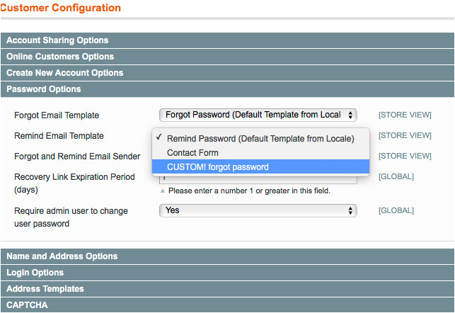 magento email tempales