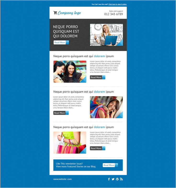 editable mailchimp template newsletter
