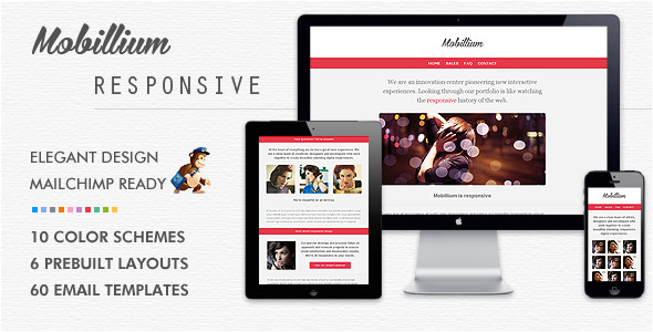 mobillium responsive mailchimp ready email newsletter