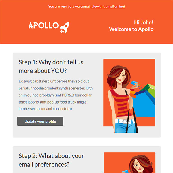 Mailchimp Welcome Email Template Apollo Shopping Welcome Message Email Template Mailchimp