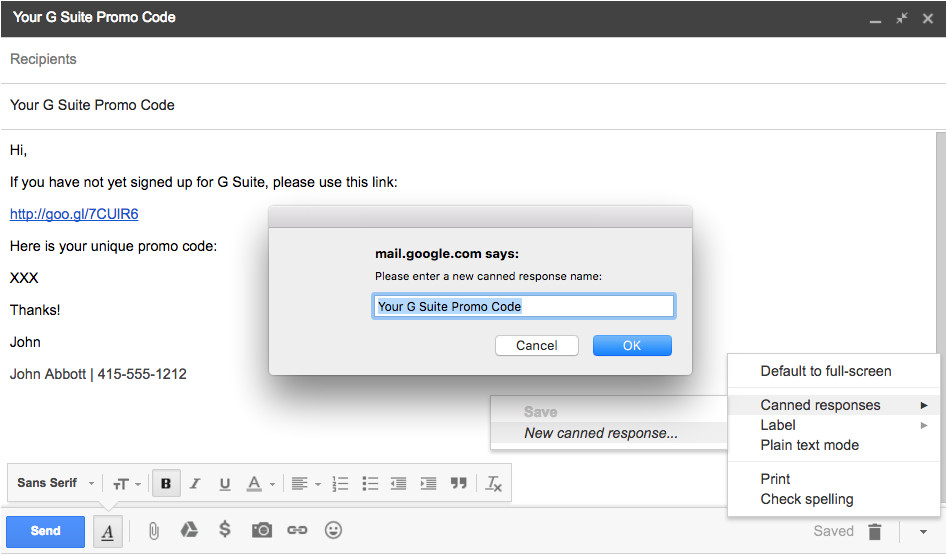 Make Email Template Gmail Gmail Templates How to Create them Using Canned Responses