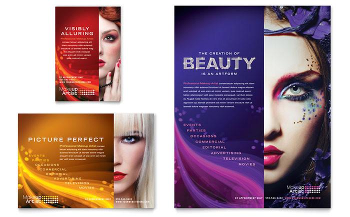 makeup artist flyer ad template design hb0060701